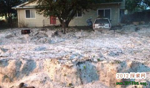 美国降冰雹_美国科罗拉多州遭受冰雹袭击